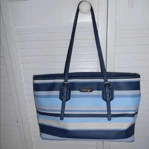 Dana Buchman Blue Striped Handbag